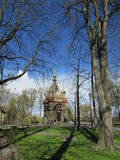 Belarus, Gomel. The Cathedral in the Park of princes Rumyantsev-Paskevich Royalty Free Stock Images