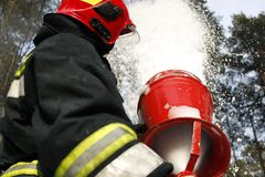 Foam fire royalty free stock photography