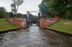 Belarus. Gateway on the Augustow canal in Belarus. May 24, 2017 Royalty Free Stock Photography