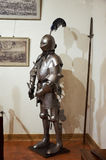 Belarus. The Grodno. Mir Castle is a museum and castle complex. Armor of the Knight. May 22, 2017 stock photo
