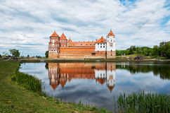 Belarus. The Grodno. Mir Castle is a museum and castle complex. May 22, 2017 stock photography