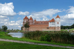 Belarus, Grodno region. Mir Castle, view from the lake Royalty Free Stock Image