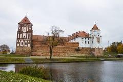 Belarus, Grodno region, 23, October, 2015: Mir Castle stock photography