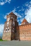 Belarus, Grodno region. Tower of Mir Castle Stock Photos