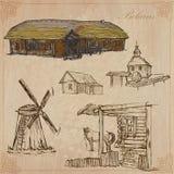 belarus Hand gezeichneter kein Vektorsatz 3 Lizenzfreies Stockfoto