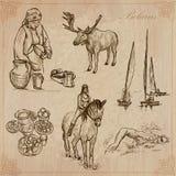 belarus Hand gezeichneter kein Vektorsatz 6 Stockfoto