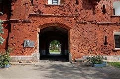 Belarus. The house was damaged by shooting in the Brest Fortress. May 23, 2017 Royalty Free Stock Image