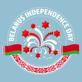 Belarus Independence Day label. Vector. Round frame composition. Stock Images