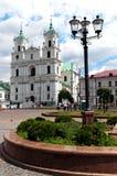 belarus katedralny pejzaż miejski dzień Grodno ładny Fotografia Royalty Free