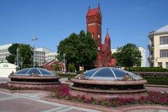 belarus katolskt kapell minsk Royaltyfri Foto