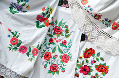 Belarus. Kormyanschiny towels, satin stitch Royalty Free Stock Photography