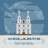 Belarus landmarks. Retro styled image Royalty Free Stock Photos