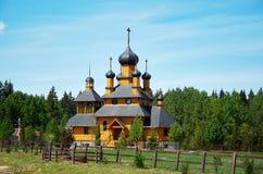 belarus Le ` de Dudutki de ` est un complexe de musée d'artisanat antique au Belarus Église en bois 21 mai 2017 Image stock