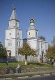 Belarus, Logoysk: St. Nikolaev orthodox church. Stock Images