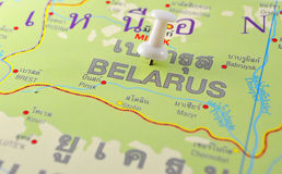Belarus map Stock Photos