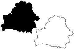 Belarus map vector Stock Photography