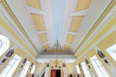 Free BELARUS - MAY 2020:  Interior Dome And Looking Up Into A Old Defense Catholic Church Ceiling Royalty Free Stock Photography - 214505477