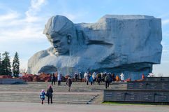 Belarus, memorial complex Brest Hero Fortress, monument Courage Royalty Free Stock Image