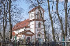 Belarus, Minsk: an ancient Catholic church on the Kalvariysky cemetery Royalty Free Stock Images