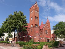 Belarus. Minsk. Church of Saints Simon and Helena. Church of Saints Simon and Helena or red church Royalty Free Stock Photos