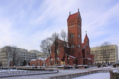 Belarus. Minsk. Church of Saints Simon and Helena. Church of Saints Simon and Helena or red church Royalty Free Stock Image