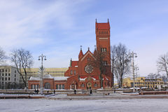 Belarus. Minsk. Church of Saints Simon and Helena. Church of Saints Simon and Helena or red church Royalty Free Stock Photo