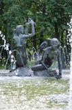 Belarus, Minsk: the fountain in park of Janka Kupala. Royalty Free Stock Photos
