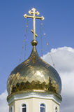Belarus, Minsk: fragment of a dome of orthodox church of Andrew Pervozvannyi. Royalty Free Stock Photography