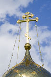 Belarus, Minsk: fragment of a dome of orthodox church of Andrew Pervozvannyi. Royalty Free Stock Photo