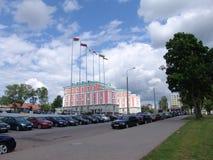 belarus minsk Le bâtiment de l'amitié entre Moscou et Minsk Photographie stock libre de droits