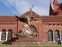 Belarus. Minsk. Monument near Church of Saints Simon and Helena Royalty Free Stock Photography