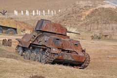 Belarus. Minsk. The museum of former Stalin Line. Rusty tanks Stock Photos
