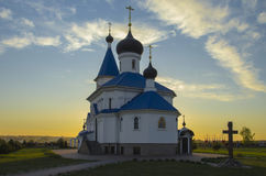 Free Belarus, Minsk: Orthodox St. Nicholas Church In Beams Of The Setting Sun. Royalty Free Stock Image - 61424466