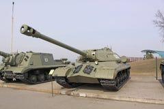 Belarus. Minsk. Soviet  Tank IS-3 in the museum Stalin Line. Stock Photography
