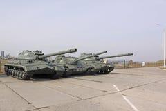 belarus minsk Sowjetische Behälter is-3 und ISU 100 in der Museum Stalin-Linie Lizenzfreies Stockbild