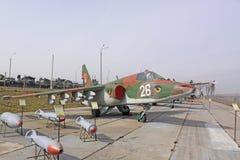 belarus minsk Sowjetisches Flugzeug SU-25 in der Museum Stalin-Linie Lizenzfreie Stockfotografie