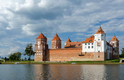 Belarus, Mir Castle, a beautiful view from the lake Royalty Free Stock Image