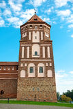 Belarus, Mir Castle Complex. The tower of a medieval castle. Royalty Free Stock Images