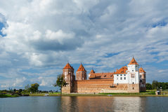 Belarus, Mir Castle Complex, view from the lake Royalty Free Stock Images