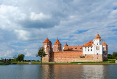Belarus. Mir Castle, view from the lake Royalty Free Stock Photo