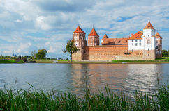 Belarus. Mir Castle, view from the lake Royalty Free Stock Image