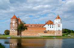 Belarus, Mir Castle, view from the lake Stock Photography
