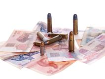 Belarus money and bullets Stock Images