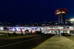 Belarus. National Airport Minsk. View on terminal and control t. Ower Royalty Free Stock Image