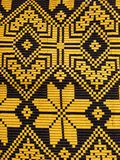 Belarus national ornament. Belarussian national ornament in black and yellow Royalty Free Stock Photos