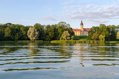 Belarus, Nesvizh Castle on the shores of Castle pond Stock Images