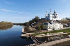 Belarus nice Vitebsk spring landscape view Royalty Free Stock Photos