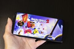 Free BELARUS, NOVOPOLOTSK - 27 MARCH, 2021: Angry Birds 2 Game On Phone Display Royalty Free Stock Images - 214496919