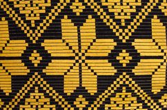 Belarus ornament. Belarussian national ornament in black and yellow Royalty Free Stock Images