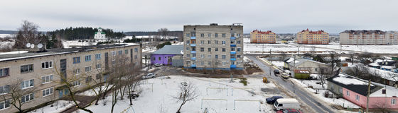 Belarus. Panoramic view of Vileyka city. Near Minsk Royalty Free Stock Images